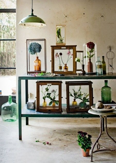 Green glass vases for Interior junkie