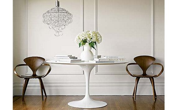 Tulip Table With Norman Cherner Chairs Via Dwr