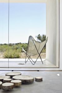 White butterfly in a Formentera beach house, Spain - via Pinterest